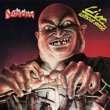 "DESTRUCTION - Live Without Sense LP+7"" UUSI BLACK"