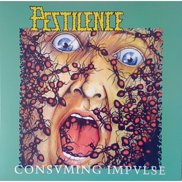 PESTILENCE - Consuming Impulse LP UUSI Hammerheart Records BLACK