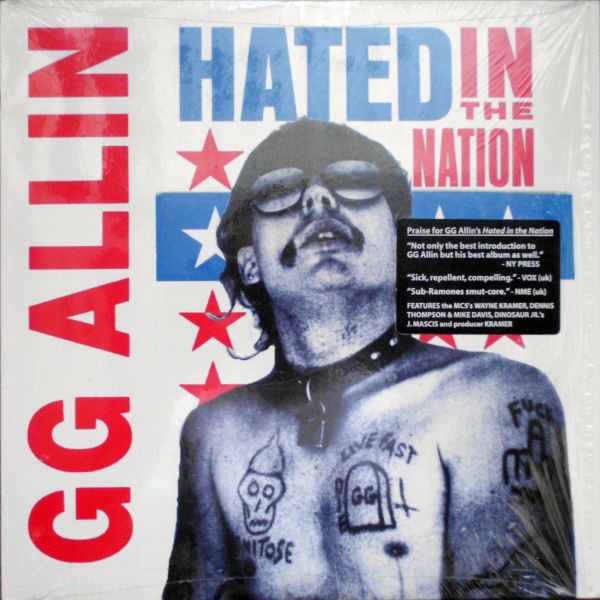 GG ALLIN - Hated in the nation LP Roir UUSI M/M