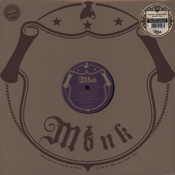 REINHARDT DJANGO - Swing De Paris LP Monk Records