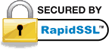 This site is secured by Rapid SSL