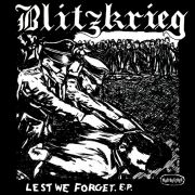 "BLITZKRIEG - LEST WE FORGET 7"" EP Mad Butcher Records LTD GREEN"