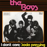 "THE BOYS - I DON`T CARE 7"" Mad Butcher Records BLACK VINYL"