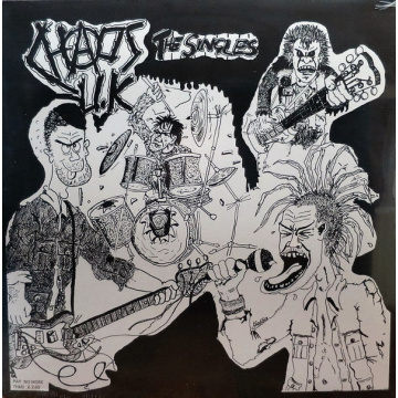 CHAOS UK - The Singles - Total Chaos LP Radiation UUSI