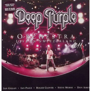 DEEP PURPLE WITH ORCHESTRA - Live In Switzerland 2011 3-LP Back On Black UUSI RSD 2015 LTD PURPLE VINYLS