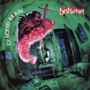 DESTRUCTION - Cracked Brain LP LTD FIRE SPLATTER