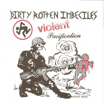 "D.R.I. - Violent Pacification 7"" Beer City Records CLEAR VINYL"