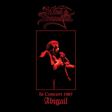 KING DIAMOND - In Concert 1987 - Abigail LP UUSI Metal Blade LTD 500 TRANSLUCENT RED WHITE MARBLED