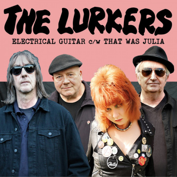 "LURKERS - Electrical Guitar 7"" UUSI Damaged Goods LTD Black/Clear vinyl"