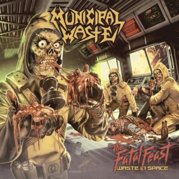 MUNICIPAL WASTE - The Fatal feast waste in space LP NB UUSI GREEN VINYL M/M