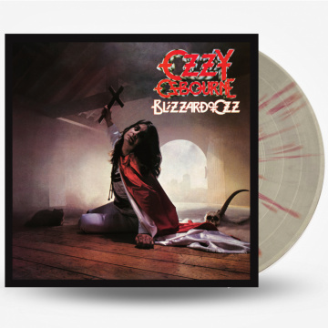 OZZY OSBOURNE - Blizzard of Ozz LP UUSI Sony Music LTD SILVER VINYL WITH RED SWIRLS