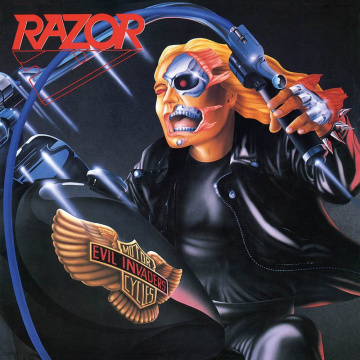 RAZOR - Evil Invaders LP UUSI Storm LTD BLUE vinyl