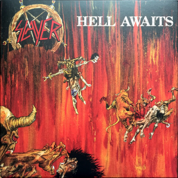 SLAYER - Hell Awaits LP UUSI Metal Blade WITH POSTER black vinyl