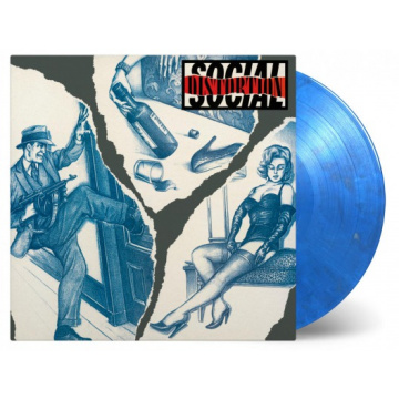 SOCIAL DISTORTION - Social Distortion 180gr LP Music on Vinyl UUSI LTD 2500 numbered copies on coloured blue and silver swirled vinyl