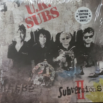 UK SUBS - Subversions II LP Cleopatra UUSI LTD WHITE VINYL