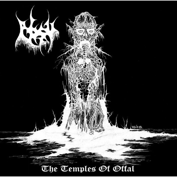 ABSU - The Temples Of Offal LP Crypt LTD CLEAR vinyl BLACK cover