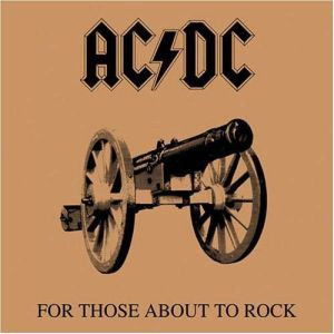 AC/DC - For Those About To Rock LP Sony Columbia UUSI