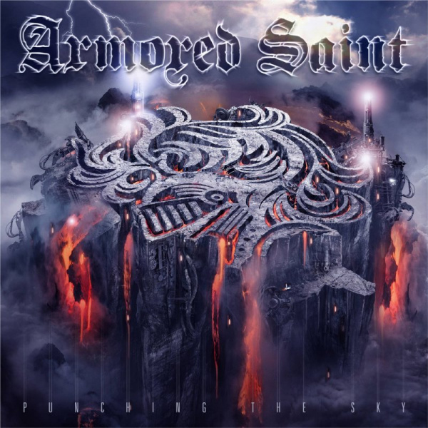 ARMORED SAINT - Punching the Sky 2LP UUSI LTD 500 CLEAR PURPLE WHITE MARBLED