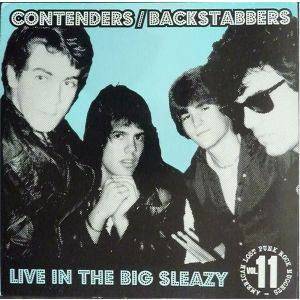 CONTENDERS / BACKSTABBERS - Live In The Big Sleazy LP Rave Up Records