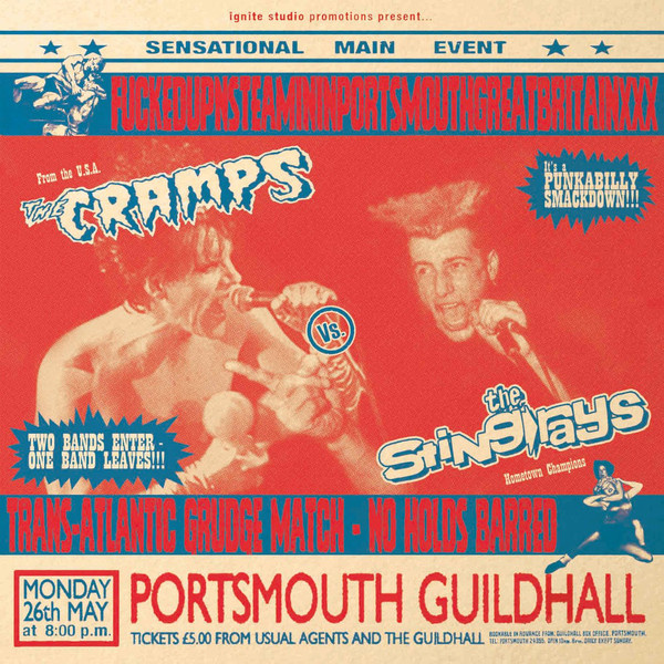 CRAMPS / STING-RAYS - Fuckedupnsteamininportsmouthgreatbritainxxx LP LTD 500 copies