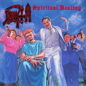 DEATH - Spiritual Healing LP UUSI LTD CUSTOM PINWHEELS WITH SPLATTER EDITION