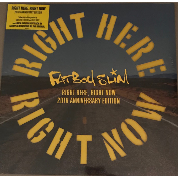 "FATBOY SLIM -  Right Here Right Now 12"" RSD 2019 release"
