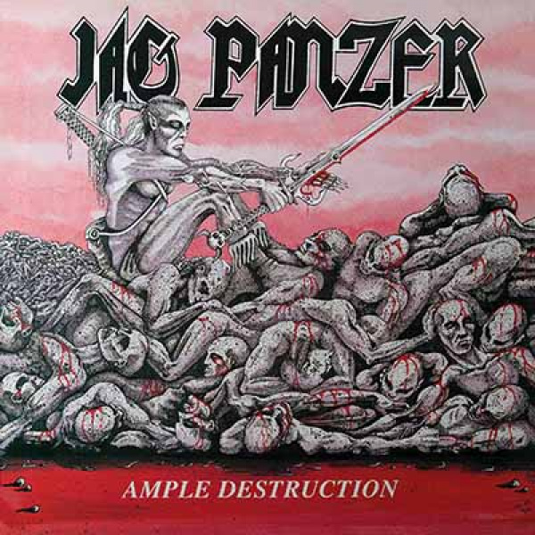 JAG PANZER - Ample Destruction LP LTD METALCORE COVER 150 copies BONE