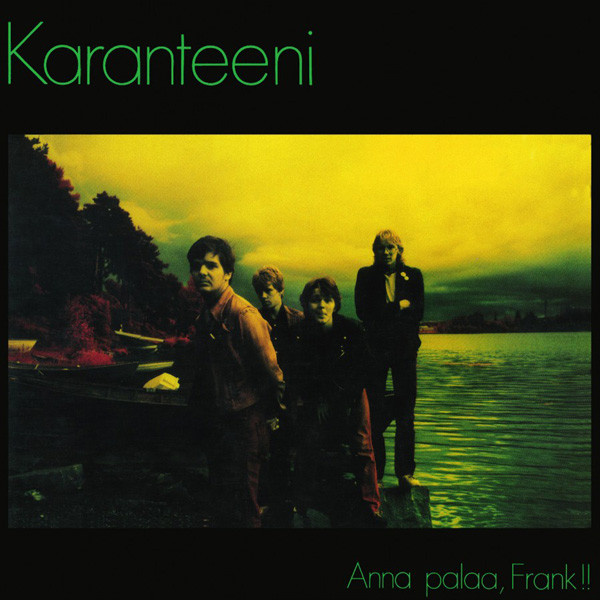 KARANTEENI - Anna palaa Frank LP Svart UUSI LTD 100 COPIES YELLOW VINYL M/M