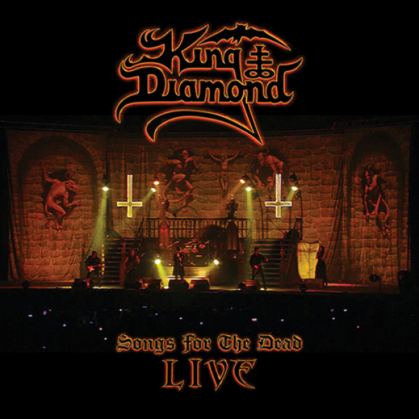 KING DIAMOND - Songs For The Dead Live 2LP UUSI Metal Blade Transparent Amber Marbled Vinyls