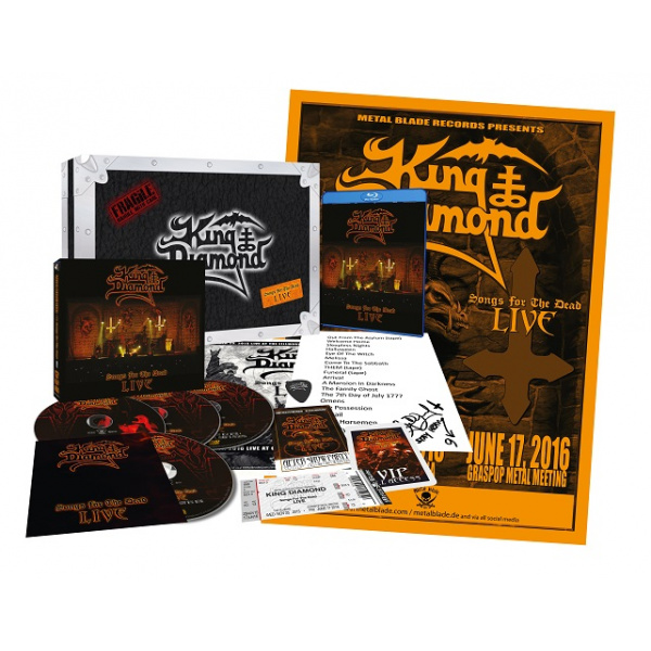 KING DIAMOND - Songs From the Dead Live LIMITED SPECIAL BOX SET/ARTBOOK 2CD+2DVD+Blu-ray