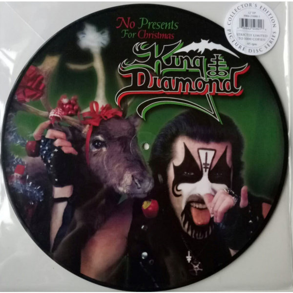 "KING DIAMOND - No Presents for Christmas PICTURE 12"" UUSI Metal Blade LTD 1000"