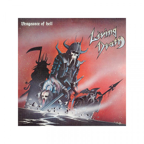LIVING DEATH - Vengeance of Hell LP UUSI LTD 150 BONE vinyl