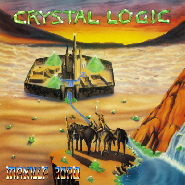MANILLA ROAD - Crystal Logic LP LTD 250 ORANGE/BLUE SPLATTER vinyl