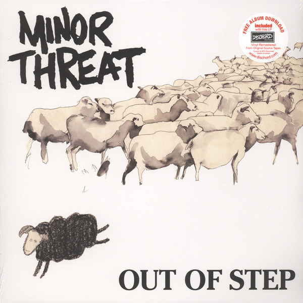 MINOR THREAT - Out Of Step LP Dischord UUSI