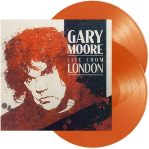 GARY MOORE - Live From London 2LP UUSI LTD Orange Transparent Vinyls