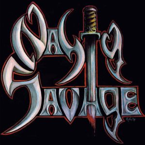 NASTY SAVAGE - s/t LP UUSI LTD 150 ultra clear with aqua blue splatter