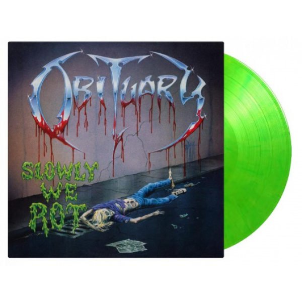OBITUARY - SLOWLY WE ROT LP UUSI LTD 2000 GREEN vinyl Music On Vinyl