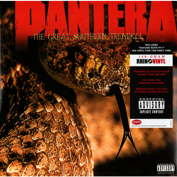 PANTERA - The Great Southern Trendkill 2LP UUSI Rhino Elektra