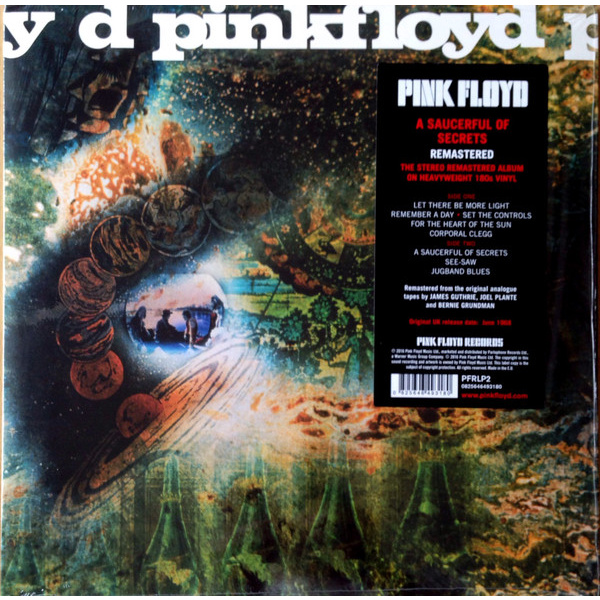 PINK FLOYD - A Saucerful of Secrets - remastered LP UUSI Parlophone