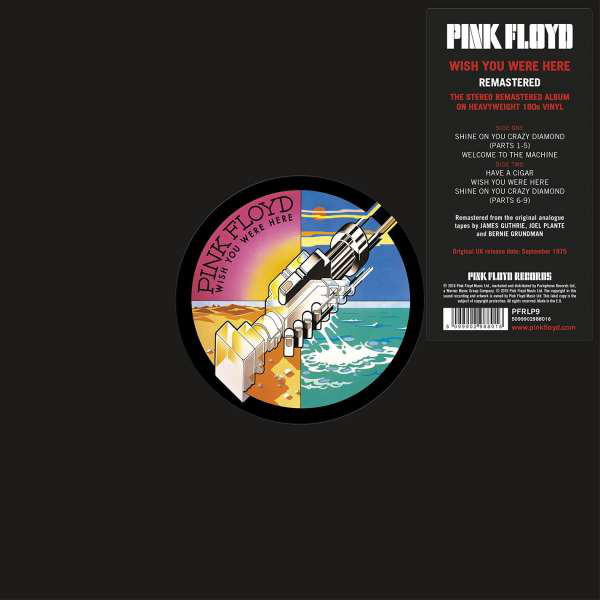PINK FLOYD - Wish You Were Here LP Parlophone 2016 REMASTERED UUSI