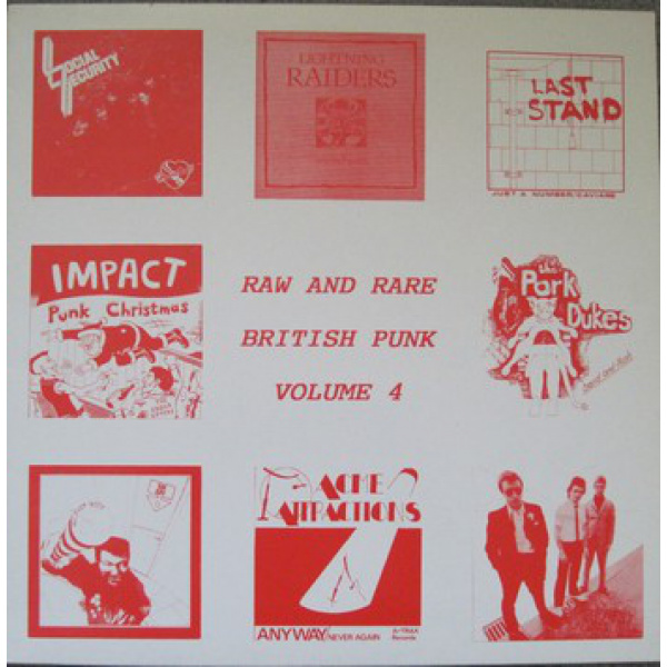 V/A - Raw And Rare British Punk Volume 4 LP A-Trax Records VG+/EX