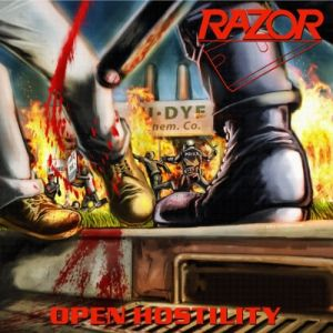 RAZOR - Open Hostility LP LTD 150 PISS YELLOW