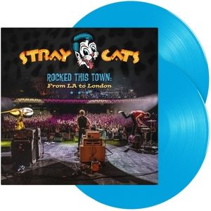 STRAY CATS - Rocked This Town: From La To London 2LP UUSI LTD Light Blue Vinyls