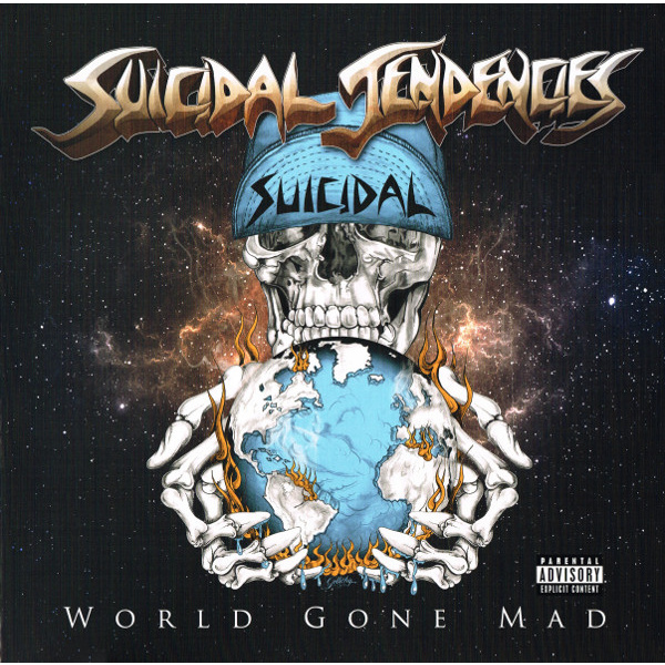SUICIDAL TENDENCIES - World Gone Mad 2-LP Suicidal Records LTD BLUE UUSI