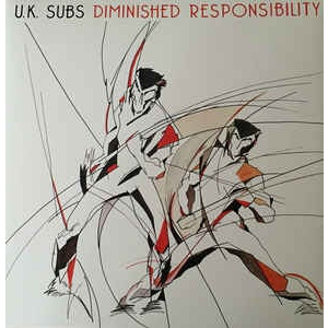 UK SUBS - Diminished Responsibility LP Demon Records UUSI LTD COLOUR VINYL M/M