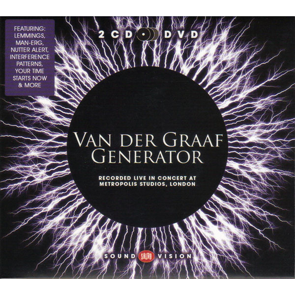 VAN DER GRAAF GENERATOR - Live In Concert At Metropolis Studios London 2CD+DVD
